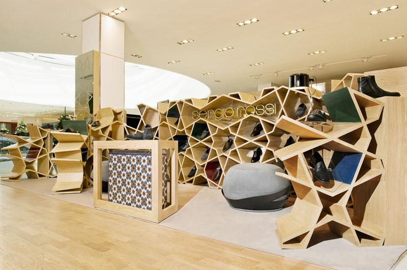Shape And Form In Design : Sergio rossi shop hkz mena design magazine