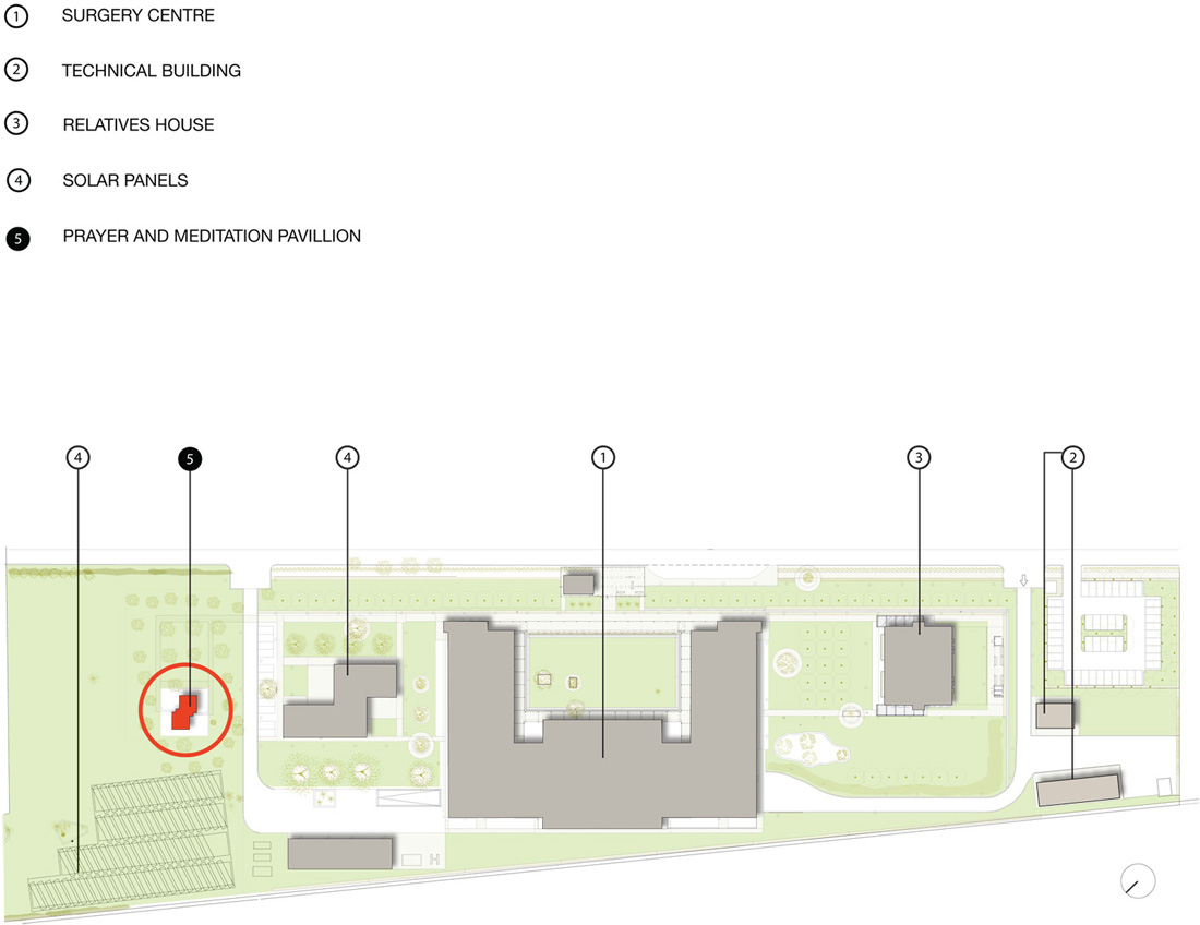 Site plan with annotation