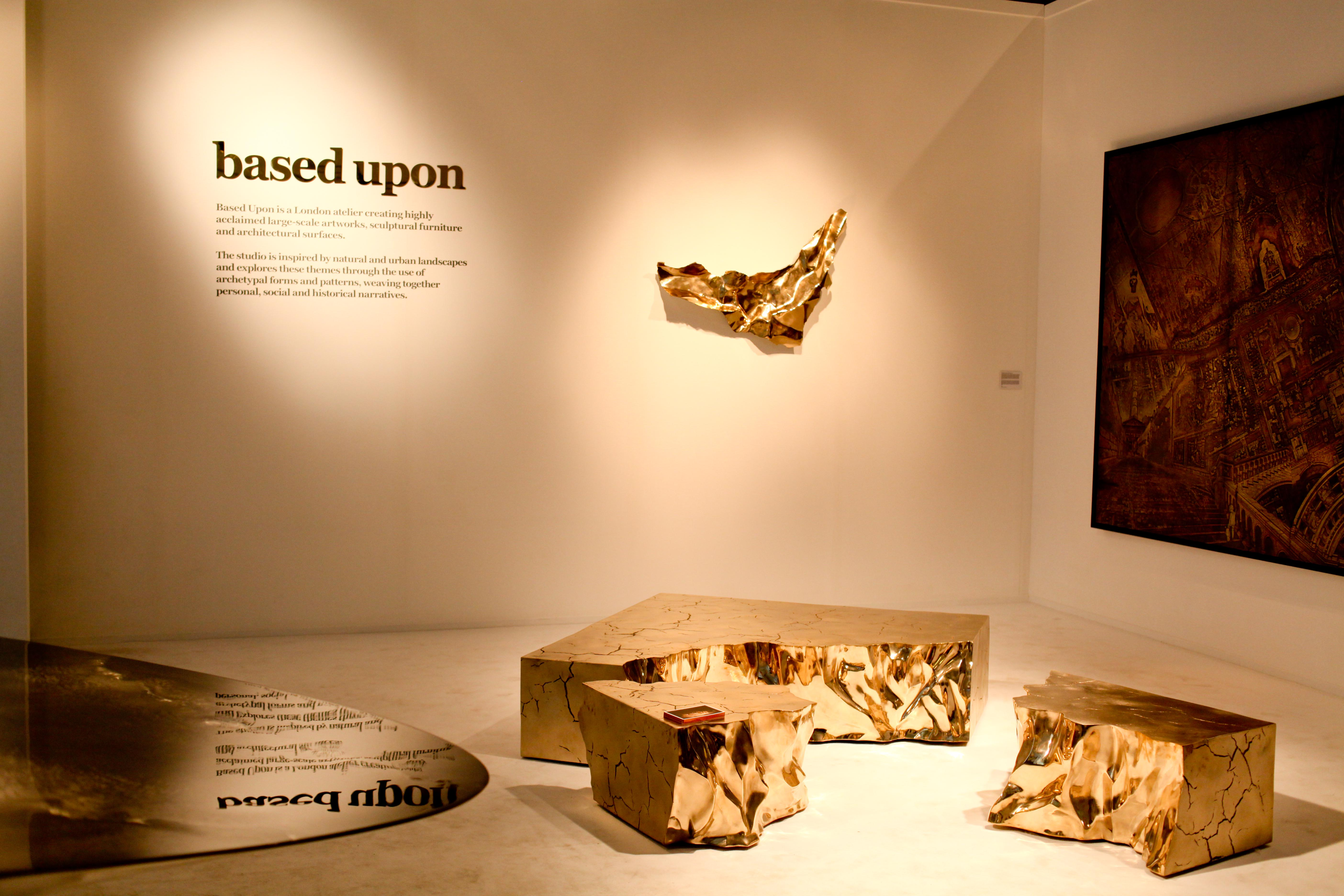 Items on display by Based Upon at Design Days Dubai 2013.
