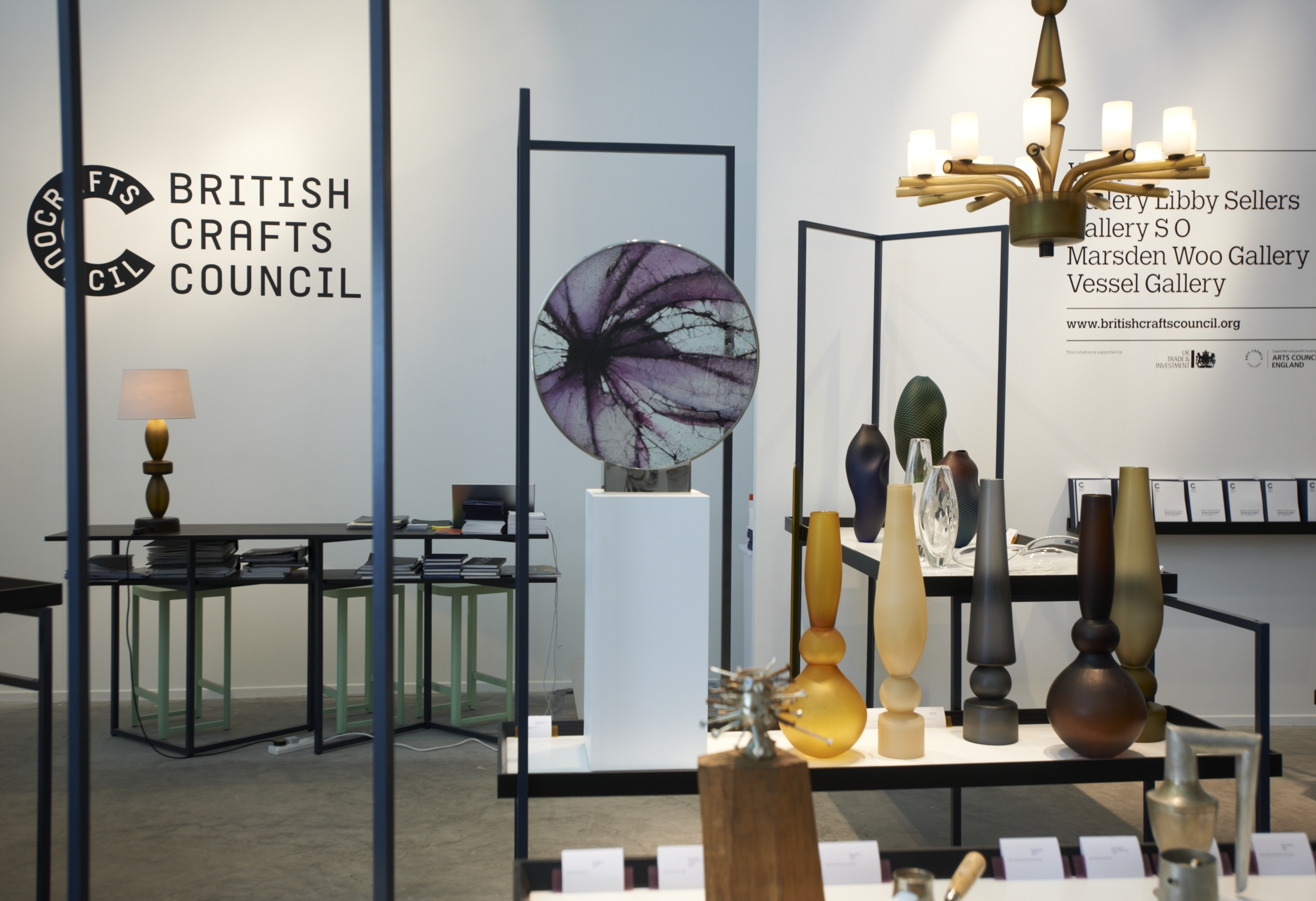Items on display by British Crafts Council at Design Days Dubai 2013.