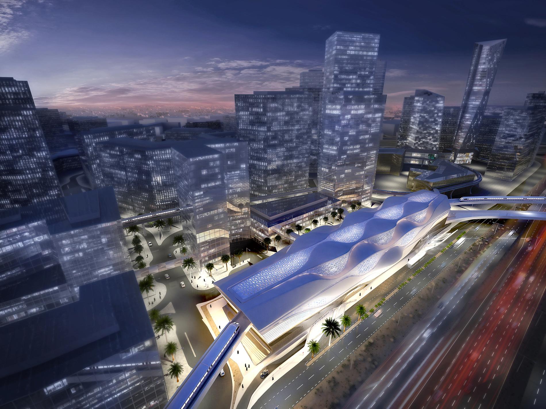KAFD Metro Station_Aerial 01