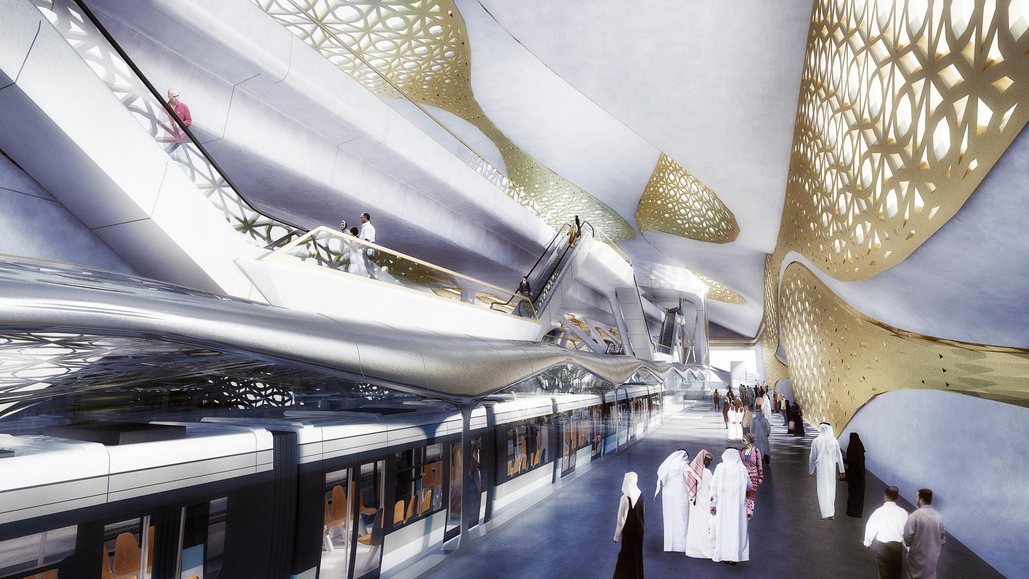 KAFD Metro Station_Interior 01