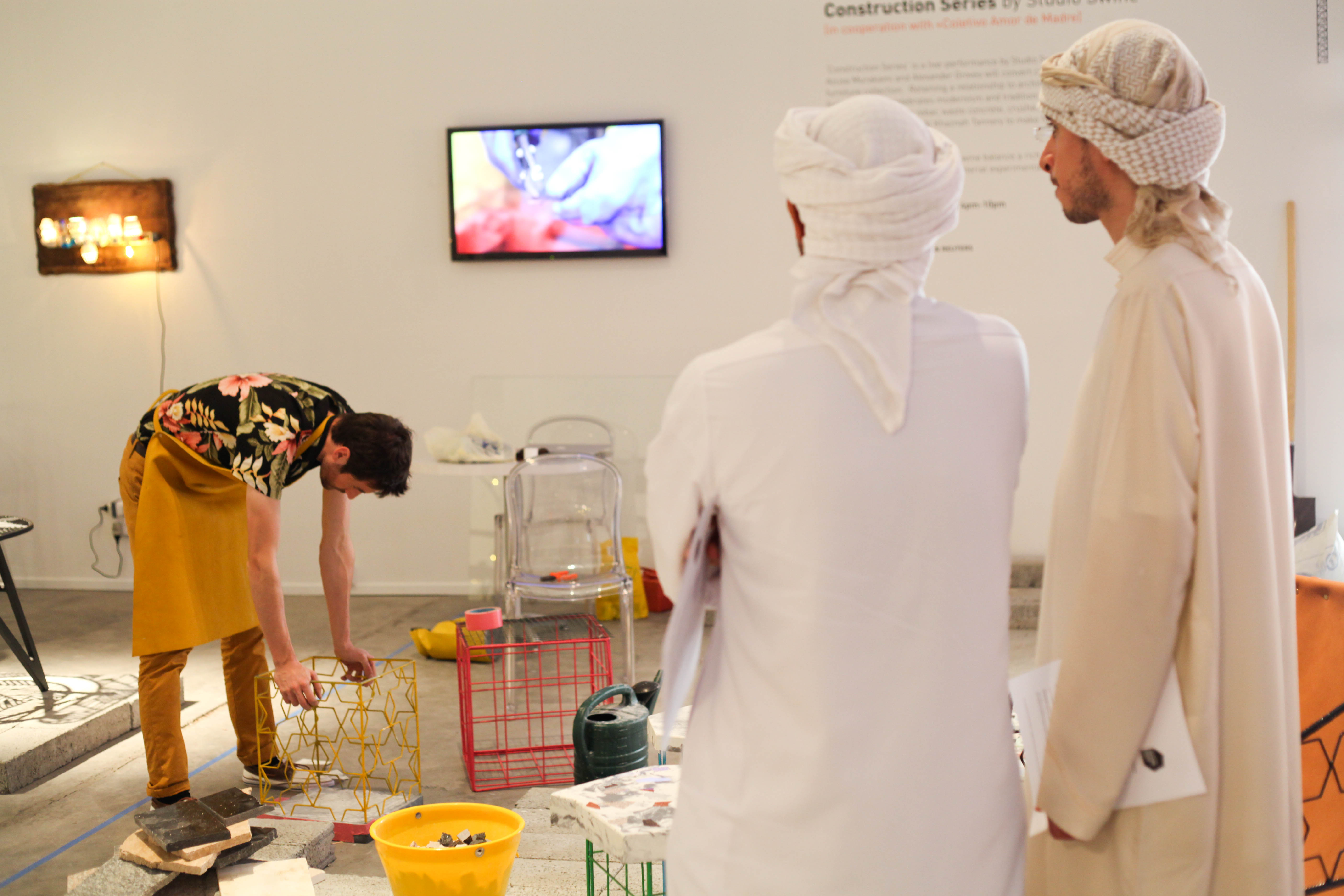 Guests visit Design Days Dubai 2013.