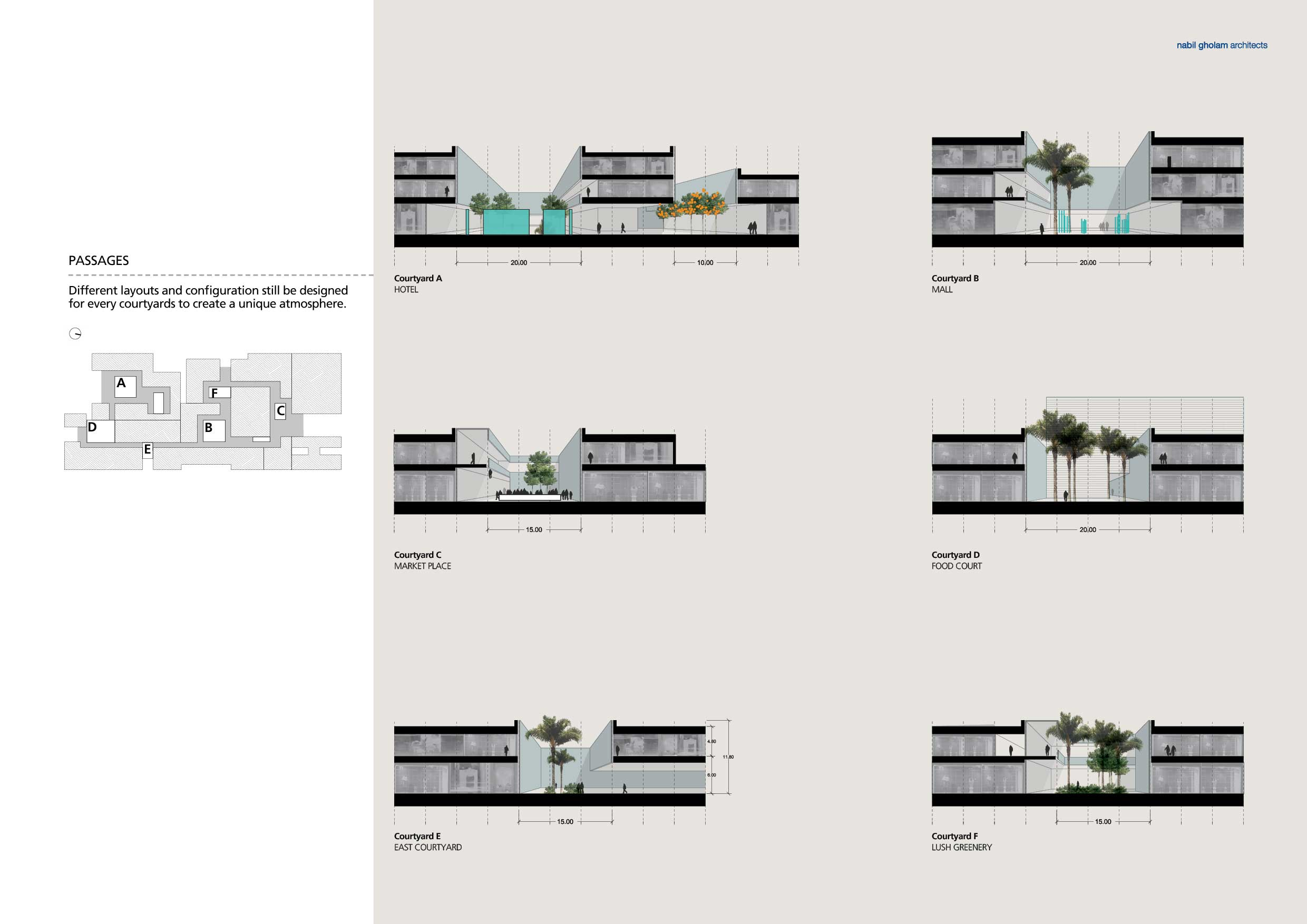 07 - babel - multiple courtyard sections