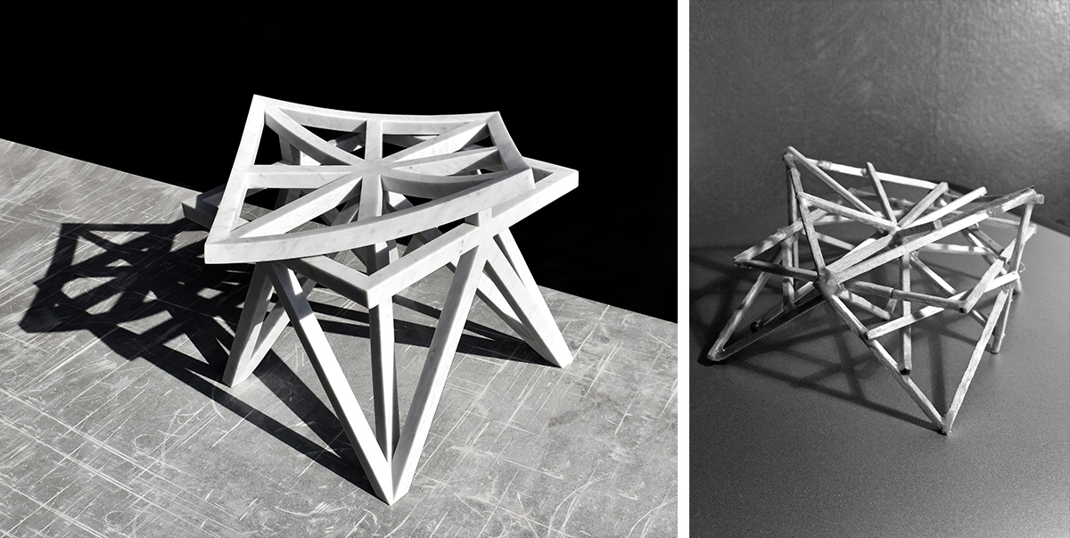 05-Unfolding Unity Stool-Marble Edition by Aljoud Lootah