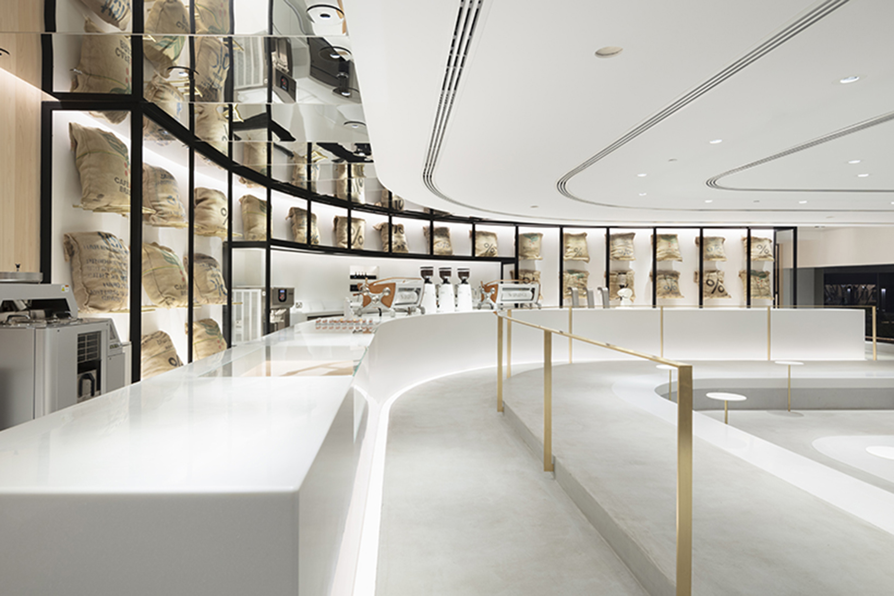 Arabica Nando S New Minimal Layered Coffee Shop Hkz Mena Design Magazine