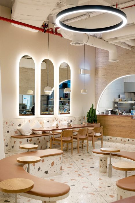 Curves Arches Terrazzo And Many More At Gia Restaurant Hkz Mena Design Magazine